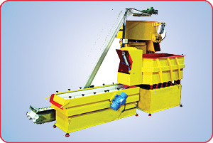 VIBRATORY PROCESSING IN TUB FINISHER, SEPARATING PARTS & MEDIA ON SCREEN