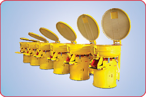 SIX VIBRATORY FINISHERS